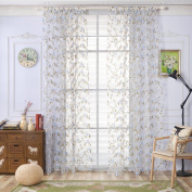 Window Curtain, Panels, Window Screening Curtains Balcony Finished Flower Curtain For Window Bedroom by TTnight