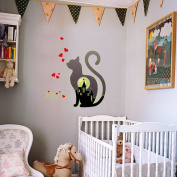 ZOMUSA Kittens luminous Stickers Children Room Entrance Bedroom Bedside Wall Stickers