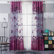Window Curtain, Panels, Foliage Tulle Sheer Door Window Screening Curtain Drape Scarf Sheer Voile Treatment by TTnight