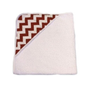 aBaby Infant Hooded Towel, Crimson Chevron
