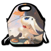 BRANDON Day Puppies And Butterfly Boys Girls Insulated Polyester Fibre Lunch Box Bag Lunch Tote Handbag Lunchbox Food Container Gourmet Tote Cooler Warm Pouch For School Work Office Picnic Travel