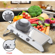 AUYE Manual adjustment blade Mandolines Slicer,Professional Stainless Steel Kitchen Mandoline Vegetable Slicer Fruit Waffle Julienne French Fry Machine