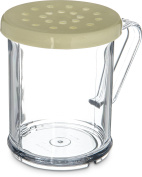 Carlisle 426004 Polycarbonate Cheese Shaker/Dredge with Lid, 1 Cup Capacity, Yellow