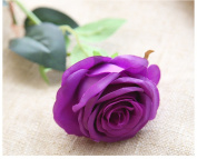 Mynse 10 Pieces Artificial Rose Flowers Fake Flowers Purple
