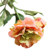 Cywulin A Branch Peony Artificial Fake Flowers Floral Decor for Wedding Bouquet House Office Garden Inddor Outdoor