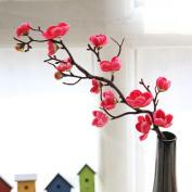 Woaills Artificial Silk Fake Flowers Plum Blossom Floral Wedding Bouquet Party Decor