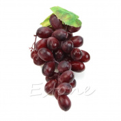 Itemap Lifelike Artificial Grapes Plastic Fake Fruit Food Home Decor Decoration