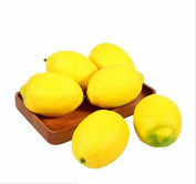 URToys 10Pcs Lifelike Simulation Lemons Decorative Plastic Solid Fake Artificial Fruit Model Yellow Cabinet Display Home Decoration Party Favour