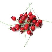 Artificial Fruit,OHTOP 20Pcs Mini Fake Smooth Pomegranate Artificial Fruit Wedding Christmas Decor