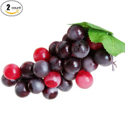 XHSP 2 Bunches Artificial Grape Cluster Large Round Grapes Simulation Fake Artificial Fruits Home House Kitchen Party Decoration Photography Props