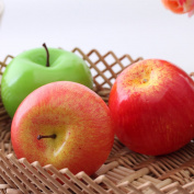 Lanlan 1 Pcs Lifelike Artificial Apples Fake Fruits Faux Foam Home House Kitchen Cabinet Decoration Red