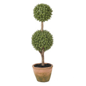 Winsome House Orchid Double Ball Topiary, 50cm H