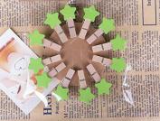 Jesica Mini Cute Wooden Star Photo Clip With 140cm Hemp Rope