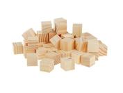 Vellhater 50pcs DIY Building Model Materials Mini Wooden Square Block