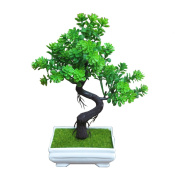 L@YC Decorative Artificial Trees With Flowering (6 colours) Bonsai Tree Modern Feng Shui tree simulation flowers , green