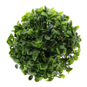Taloyer 2Pcs Artificial Hemispherical Green Grass Balls Home Potted Tree Plants Table Desk Plant Decor
