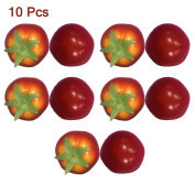 10 Pcs Artificial Tomatoes Simulation Fake Vegetable Photo Props Home Decoration