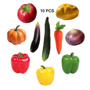 10 Pieces /Set Artificial Vegetables Simulation Vegetables Decoration Kitchen Home Decor Realistic Fake Vegetables Decor Set Photo Props