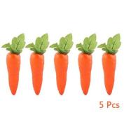 5 Pcs Simulation Carrots Artificial Vegetables Home & Kitchen Decorations