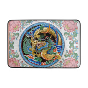 Aideess - Polyester Door Mats Outside Doormat, Ancient Dragon Doormats for Entrance Way Outdoors 60cm x 40cm