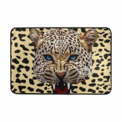 Aideess - Polyester Door Mats Outside Doormat, White Cheetah Jaguar Doormats for Entrance Way Outdoors 60cm x 40cm