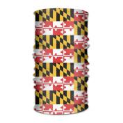 ZQQZ Maryland State Flag Multifunctional Magic Headwear 12-in-1 Men & Women Tube Scarf Facemask Headbands Neck Gaiter Bandana Balaclava Helmet For Outdoor Running Yoga Work Out