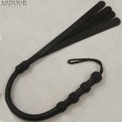 0.9m Long 08 Plait Genuine Leather Whip Heavy Duty Bullwhip with 4 Slapper Tails