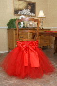 HOTER Tulle Tutu Chair Skirt with Satin Bow Knot for Wedding/Birthday/Party/Home Decoration,3 Colours