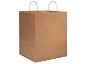 "Take Out Brown Kraft Paper Bags (25 Pack ) 14x 12"" x 43cm"