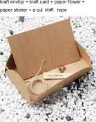 10 Sets DIY Vintage Floral Kraft Thank You Card Blank Cards Note Cards Greeting Cards with Craft Rope