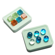 Yalulu 2Pcs 16mm Cube Round Silicone Mould Making Jewellery Pendant Resin Casting Mould for DIY Craft Making
