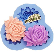 Diyclan Lotus flower style silicone fondant cake moulds cake decorating tools sugar craft tool chocolate soap mould kitchen F0439HM30