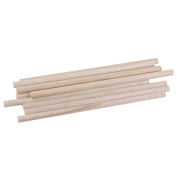 Yerger Durable Art Round Natural Wooden Sticks Crafts DIY Tool 8 x 250mm