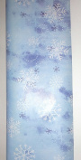 Trim A Home Festive Christmas Wrapping Paper 12 YD x 0.8m 8.4sqm 1 Roll Christmas Classic Blue Snow Flake Wrapping Paper