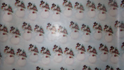 Trim A Home Festive Christmas Wrapping Paper 12 YD x 0.8m 8.4sqm 1 Roll Christmas Jack Frost on Winter Day Wrapping Paper