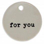 For You Round Gift Tag Label Set 6   Hanger Present Ceramic Reusable