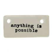 Anything is Possible Ceramic Tag Label Set 6   Gift Reusable Inspirational