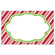 Candy Cane Stripes Enclosure Cards / Gift Tags - 3 1/2 x 2 1/4