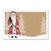 Woodland Santa Enclosure Cards / Gift Tags - 3 1/2 x 2 1/4