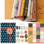 Designer Gift Wrap Paper (20 Sheets Value Pack) 46cm x 60cm Wrapping Paper Book