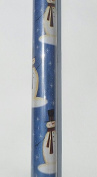 Trim A Home Festive Christmas Wrapping Paper 12 YD x 0.8m 8.4sqm 1 Roll Christmas Classic Blue Jack Frost0257 Wrapping Paper