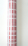Trim A Home Festive Christmas Wrapping Paper 12 YD x 0.8m 8.4sqm 1 Roll Christmas Classic White Plaid Wrapping Paper