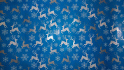 Trim A Home Festive Christmas Wrapping Paper 6.66 YD x 0.8m 4.6sqm 1 Roll Blue Paper With Silver, White Reindeer & Snow Flakes Wrapping Paper