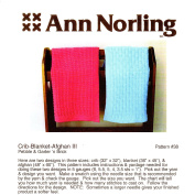 Ann Norling Pattern #38 Crib-Blanket-Afghan III