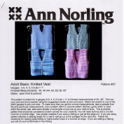 Ann Norling Pattern #27 Adult Basic Vest