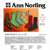 Ann Norling Pattern #12A Adult Socks Play on Ribs
