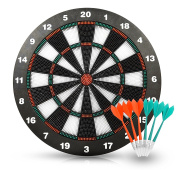 Safety Dart Set with 6 Soft Tip Darts Game Room Board Games by Joview-42cm Stipple Dart Board Play on the Table Leisure Sports Equipment