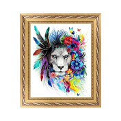Arich DIY 5D Lion Diamond Embroidery Rhinestone Painting Cross Stitch Art Home Decor