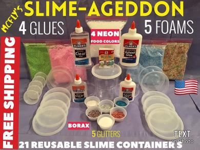 Slime Kit Slimeageddon Slime Kit Elmers Clear Glue By