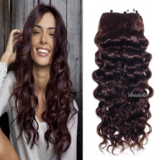 Invisible Halo Hair Extensions Curly wave Brazilian Human Hair Adjustable flip on Hairpieces one piece wrapped Great quality Wavy hair